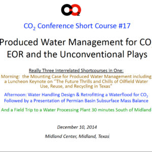 CO2 Conference Short Course #17